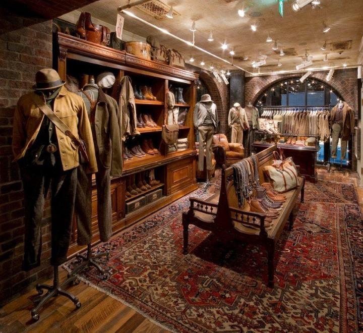RRL Omotesando复古服装店设计 | 米尚丽店装网 |零售设计网 - 专注于零售空间设计案例分享!